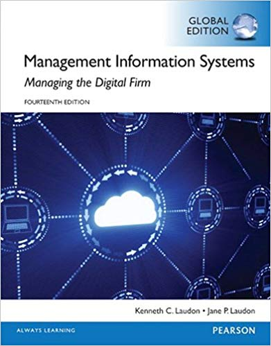 solution manual for Management Information Systems 14th Global Edition的图片 1