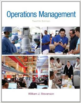 solution manual for Operations Management 12th Edition by William J Stevenson的图片 1