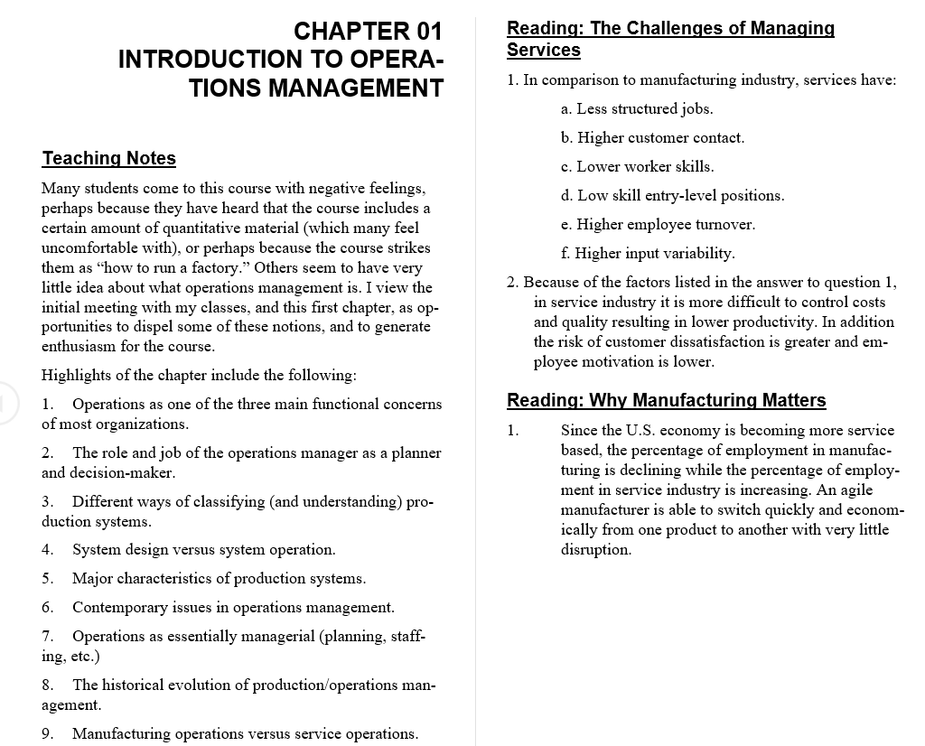 solution manual for Operations Management 11th Edition by William Stevenson的图片 3