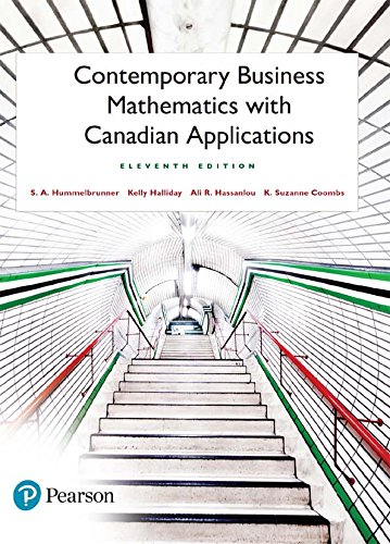 solution manual for Contemporary Business Mathematics with Canadian Applications 11th Edition的图片 1