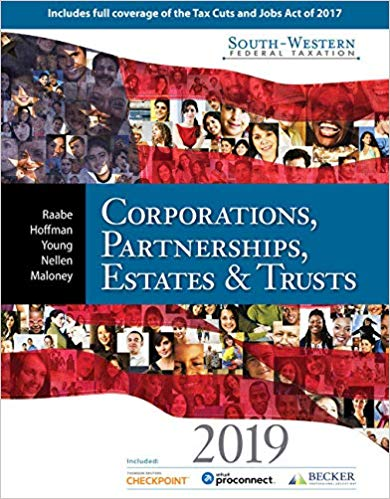 solution manual for South-Western Federal Taxation 2019: Corporations, Partnerships, Estates and Trusts 42nd Edition的图片 1
