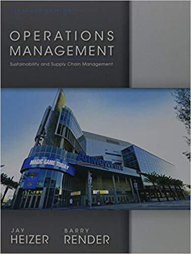 solution manual for Operations Management 11th Edition by Jay Heizer的图片 1