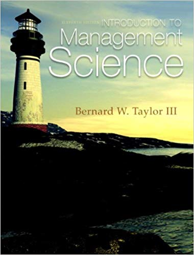 solution manual for Introduction to Management Science 11th Edition的图片 1
