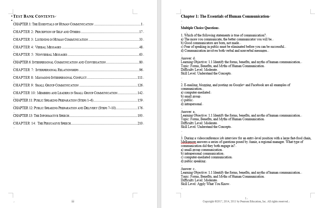 test bank for Essentials of Human Communication 9th Edition的图片 3