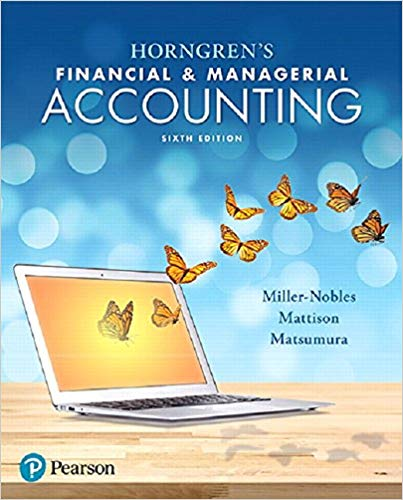 solution manual for Horngren's Financial and Managerial Accounting 6th Edition的图片 1