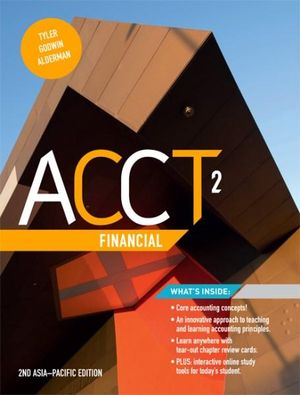 test bank for ACCT2 Financial : Asia-Pacific 2nd Edition的图片 1