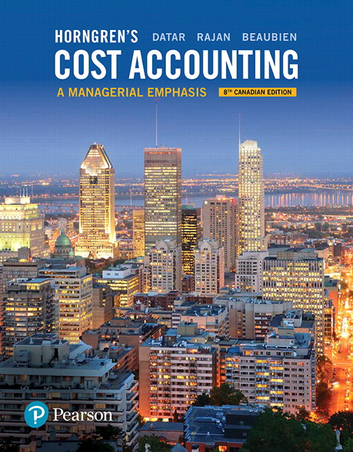 test bank for Horngren's Cost Accounting: A Managerial Emphasis 8th Canadian Edition的图片 1