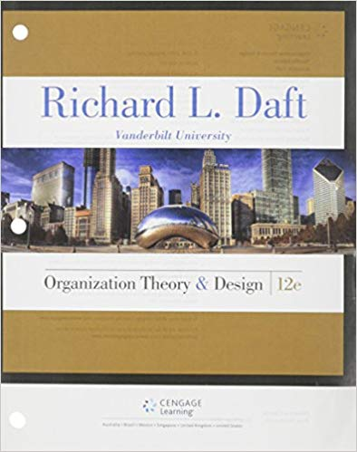test bank for Organization Theory and Design 12th Edition的图片 1