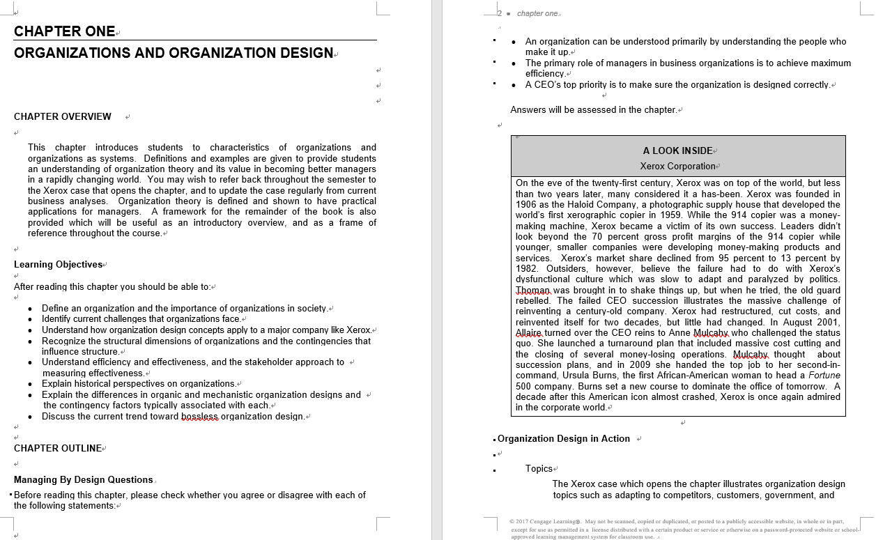 solution manual for Organization Theory and Design 12th Edition的图片 3