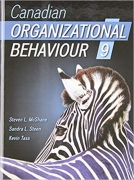 test bank for Canadian Organizational Behaviour 9th Edition