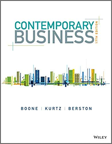 test bank for Contemporary Business 17th Edition by Louis E. Boone的图片 1