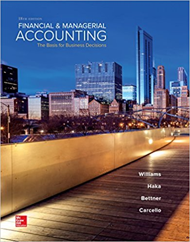 solution manual for Financial and Managerial Accounting 18th Edition的图片 1