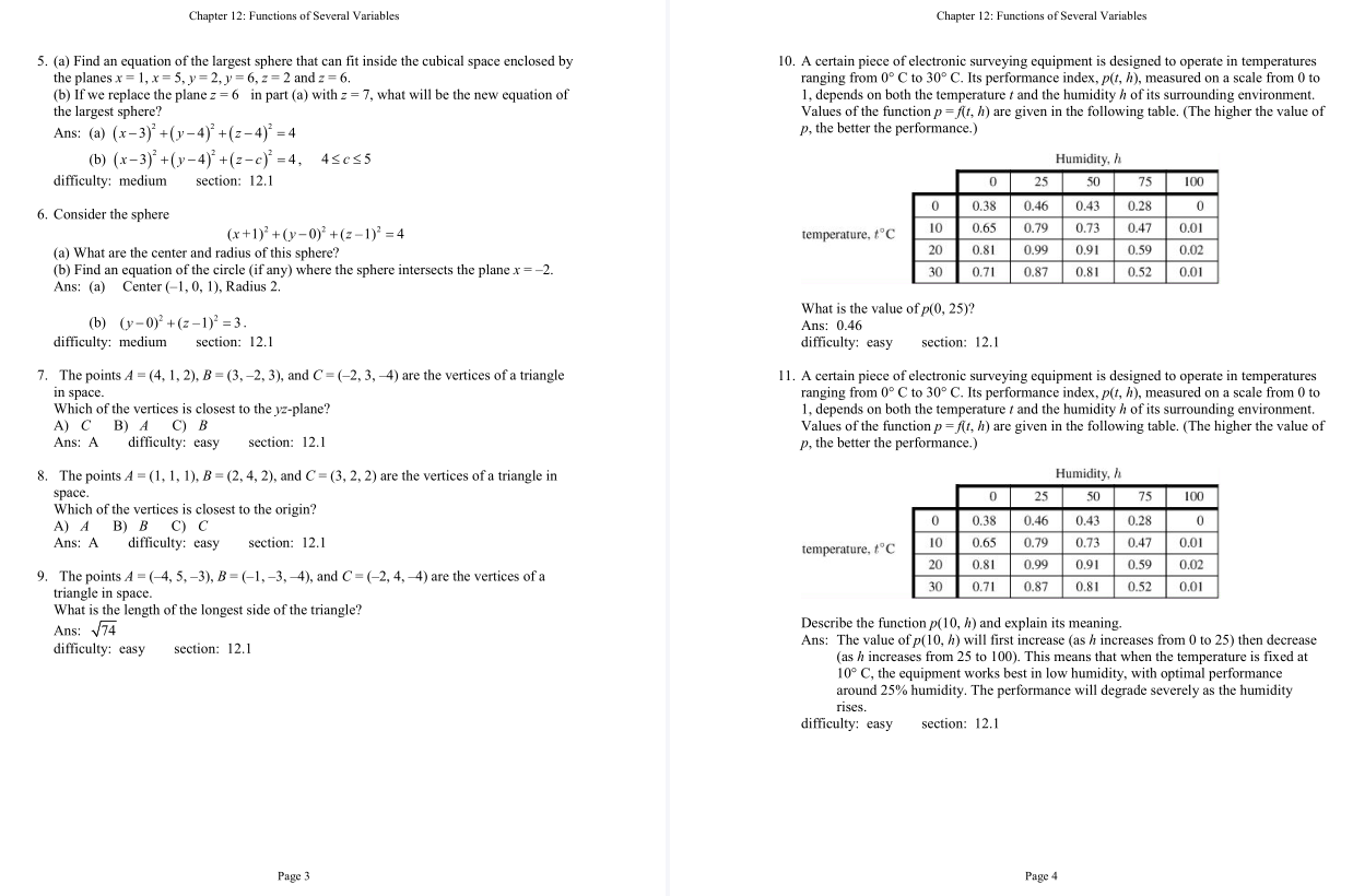test bank for Calculus: Multivariable 7th Edition的图片 4