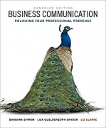 test bank for Business Communication: Polishing Your Professional Presence 1st Canadian Edition