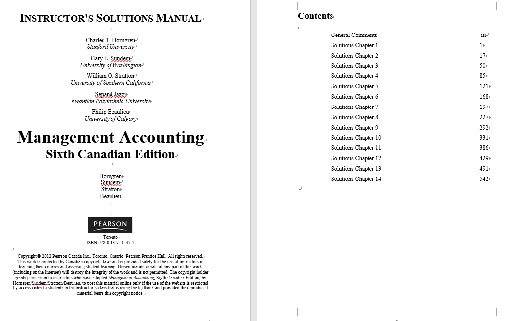 solution manual for Management Accounting 6th Canadian Edition的图片 4