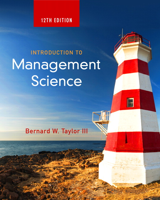 solution manual for Introduction To Management Science 12th Edition的图片 1