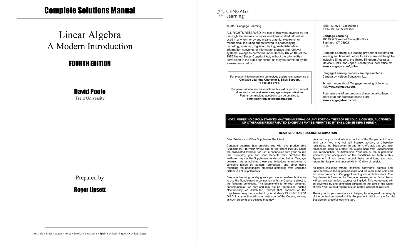 solution manual for Linear Algebra: A Modern Introduction 4th Edition的图片 2
