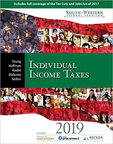 test bank for South-Western Federal Taxation 2019: Individual Income Taxes 42nd Edition的图片 1