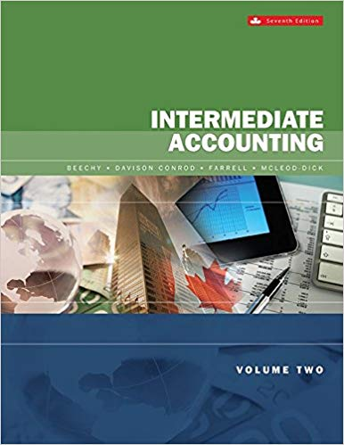 test bank for Intermediate Accounting Volume 2 7th Canadian Edition by Thomas H. Beechy的图片 1