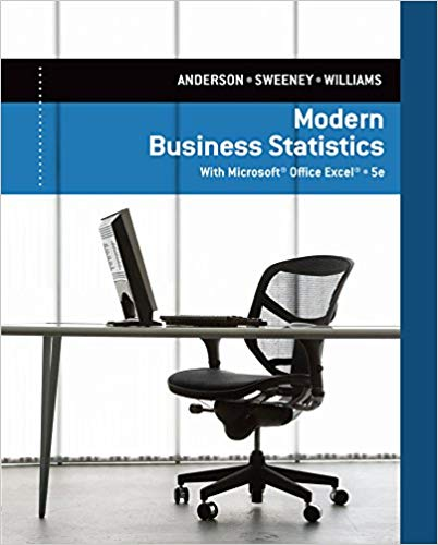 solution manual for Modern Business Statistics with Microsoft Excel 5th Edition的图片 1