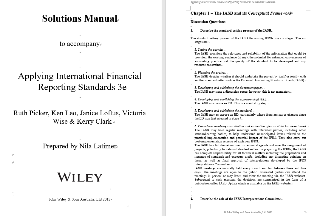 solution manual for Applying International Financial Reporting Standards 3rd Edition的图片 3