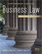 test bank for Contemporary Canadian Business Law 11th Edition by John A Willes