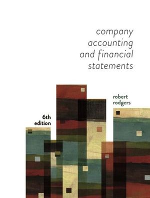 solution manual for Company Accounting and Financial Statements 6th Edition的图片 1