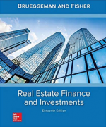 test bank for Real Estate Finance & Investments 16th Edition by William B Brueggeman