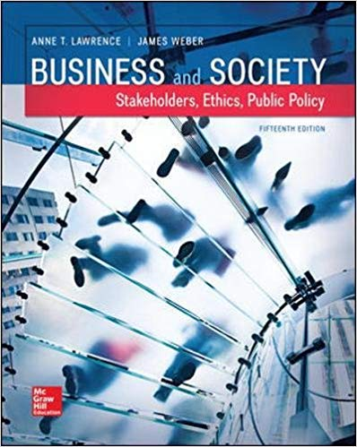 solution manual for Business and Society: Stakeholders, Ethics, Public Policy 15th Edition的图片 1