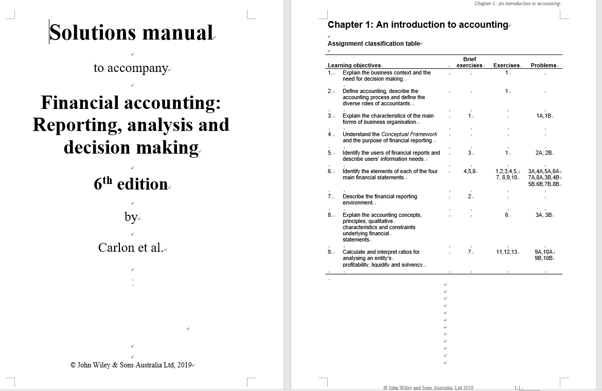 solution manual for Financial Accounting: Reporting, Analysis and Decision Making, 6th Edition的图片 3