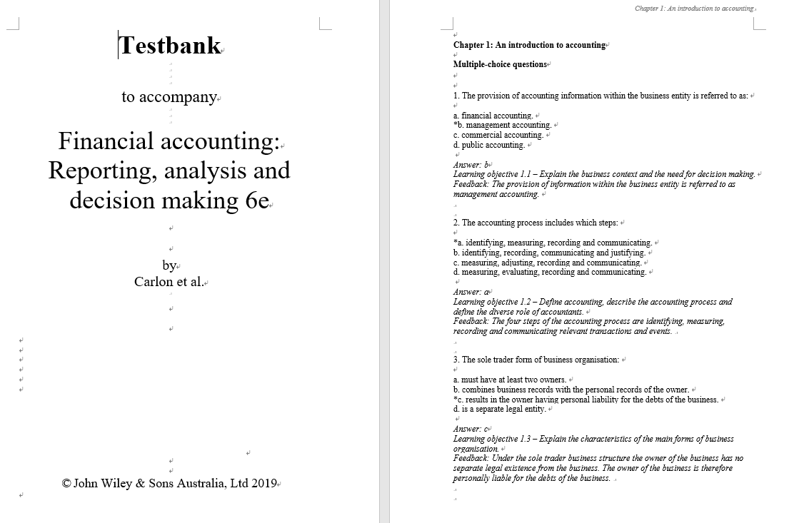 test bank for Financial Accounting: Reporting, Analysis and Decision Making, 6th Edition的图片 3