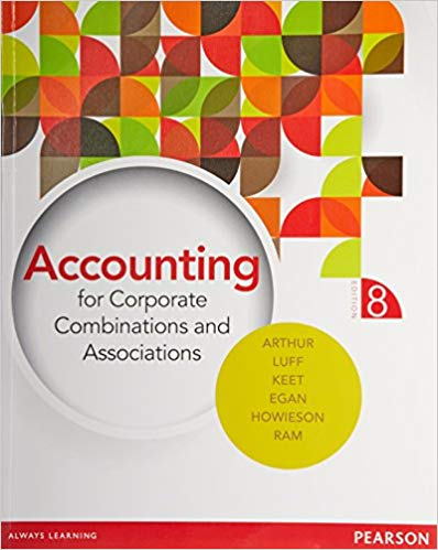 solution manual for Accounting for Corporate Combinations and Associations 8th edition的图片 1