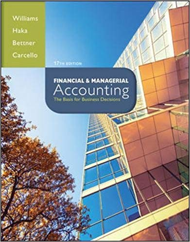 solution manual for Financial & Managerial Accounting 17th Edition的图片 1