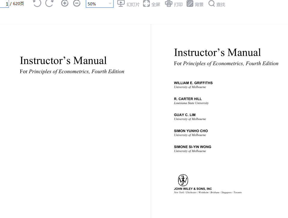 solution manual for Principles of Econometrics 4th Edition的图片 2