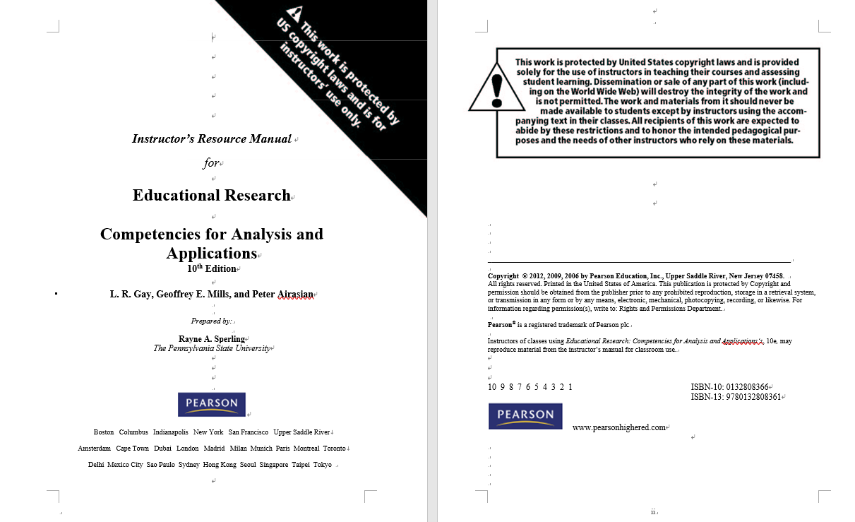 test bank for Educational Research: Competencies for Analysis and Applications 10th Edition的图片 2