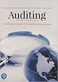 solution manual for Auditing: The Art and Science of Assurance Engagements, 14th Canadian Edition的图片 1