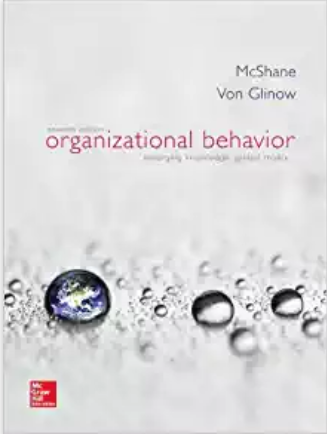 solution manual for Organizational Behavior 7th Edition by McShane Glinow的图片 1