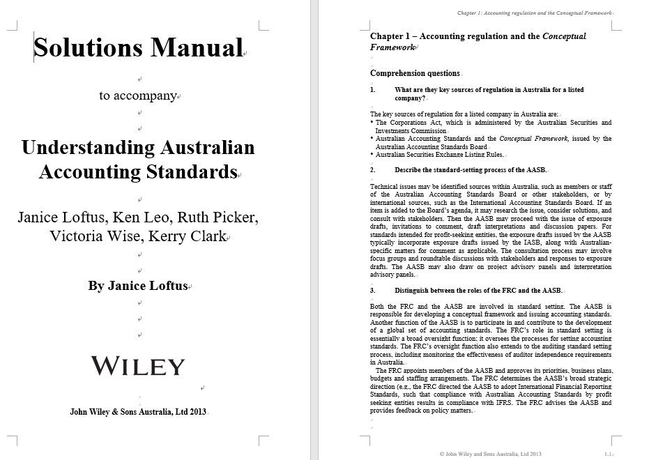 solution manual for Understanding Australian Accounting Standards 1st Edition的图片 3