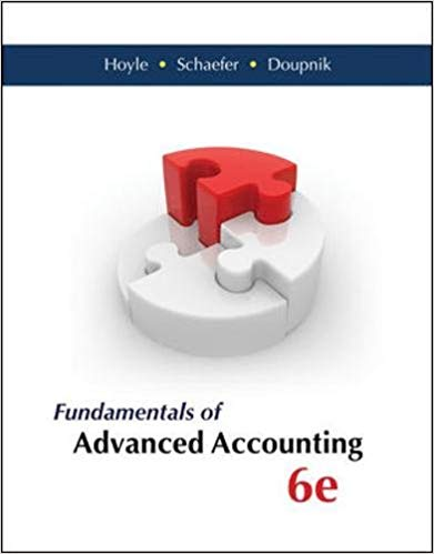 solution manual for Fundamentals of Advanced Accounting 6th Edition by Joe Ben Hoyle的图片 1