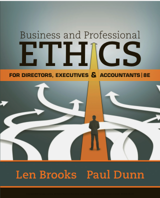 test bank for Business & Professional Ethics for Directors, Executives & Accountants 8th Edition