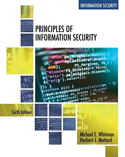 solution manual for Principles of Information Security 6th edition by Michael E. Whitman