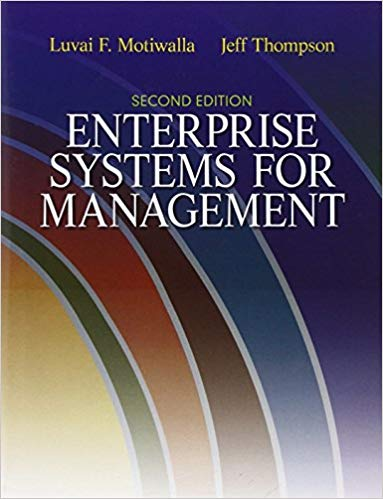 test bank for Enterprise Systems for Management 2nd Edition by Luvai Motiwalla