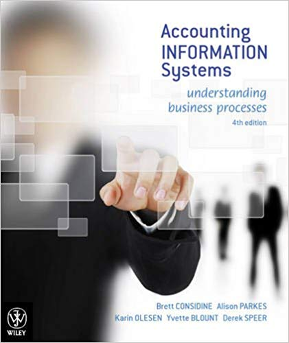 Solution Manual for Accounting Information Systems: Understanding Business Processes 4th Edition Brett Considine
