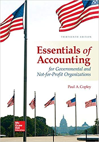 solution manual for Essentials of Accounting for Governmental and Not-for-Profit Organizations 13th Edition的图片 1