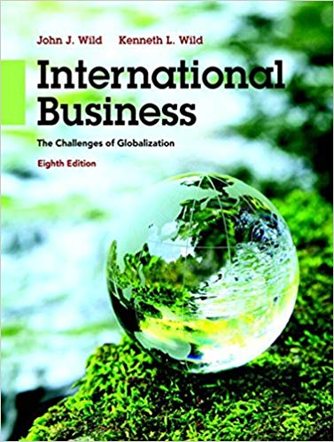 test bank for International Business: The Challenges of Globalization 8th Edition by John J. Wild