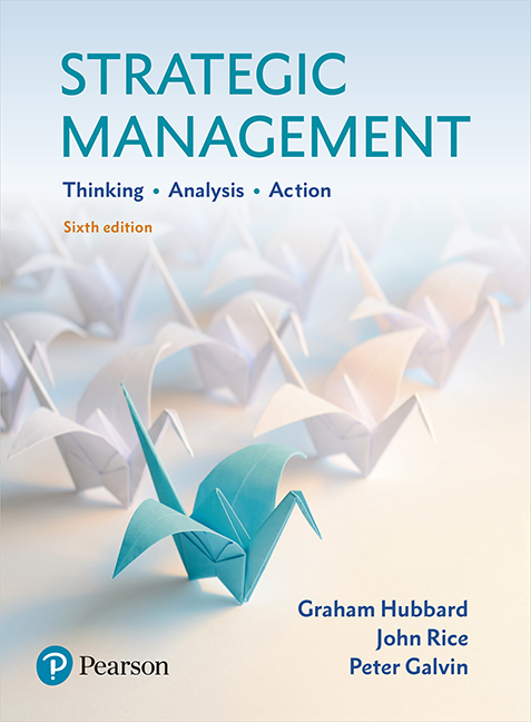test bank for Strategic Management 6th Edition By Graham Hubbard的图片 1