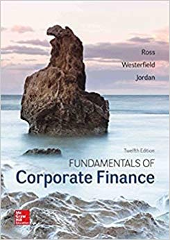 test bank for Fundamentals of Corporate Finance 12th Edition by Ross Westerfield