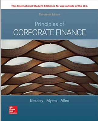 test bank for Principles of Corporate Finance 13th Edition by Richard A Brealey