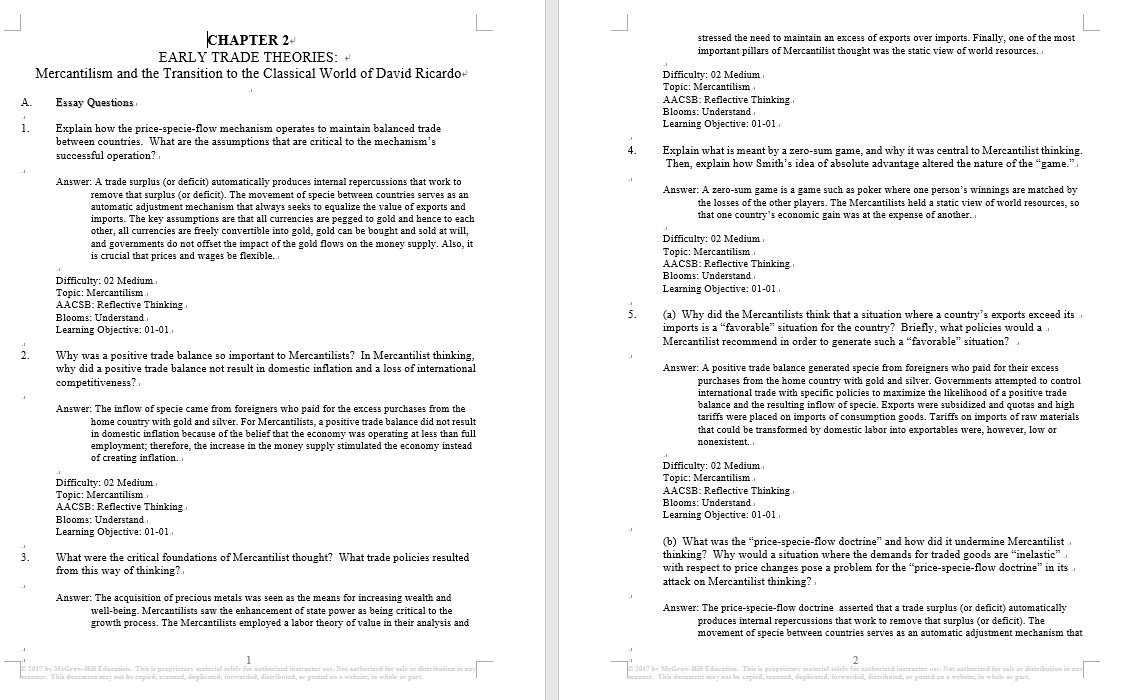 test bank for International Economics 9th Edition by Dennis R Appleyard的图片 3