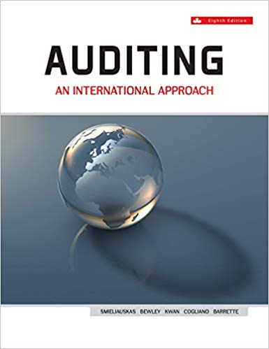 solution manual for Auditing An International Approach Canadian 8th Edition by Wally Smieliauskas的图片 1